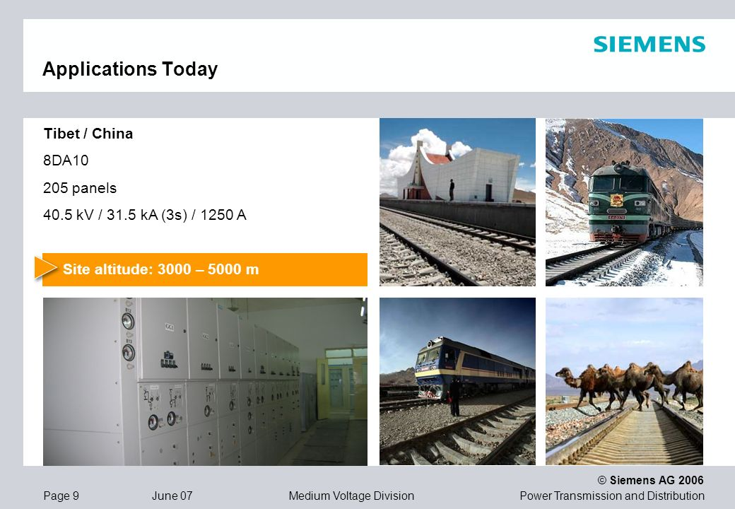 Applications Today Tibet / China 8DA10 205 panels