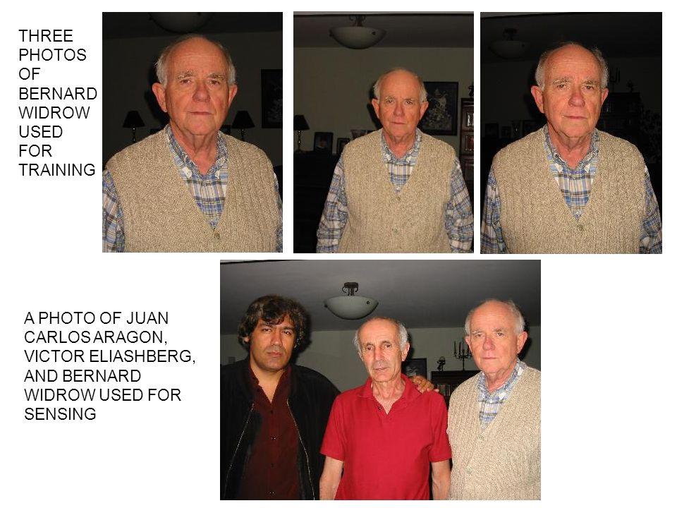 THREE PHOTOS OF BERNARD WIDROW USED FOR TRAINING