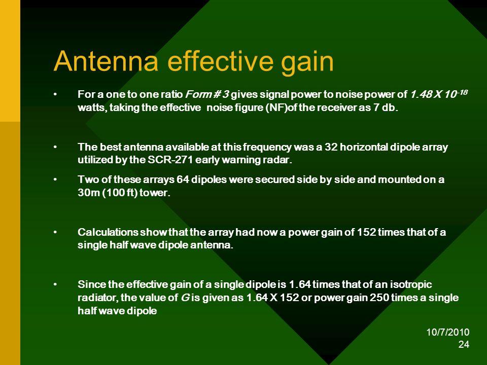Antenna effective gain