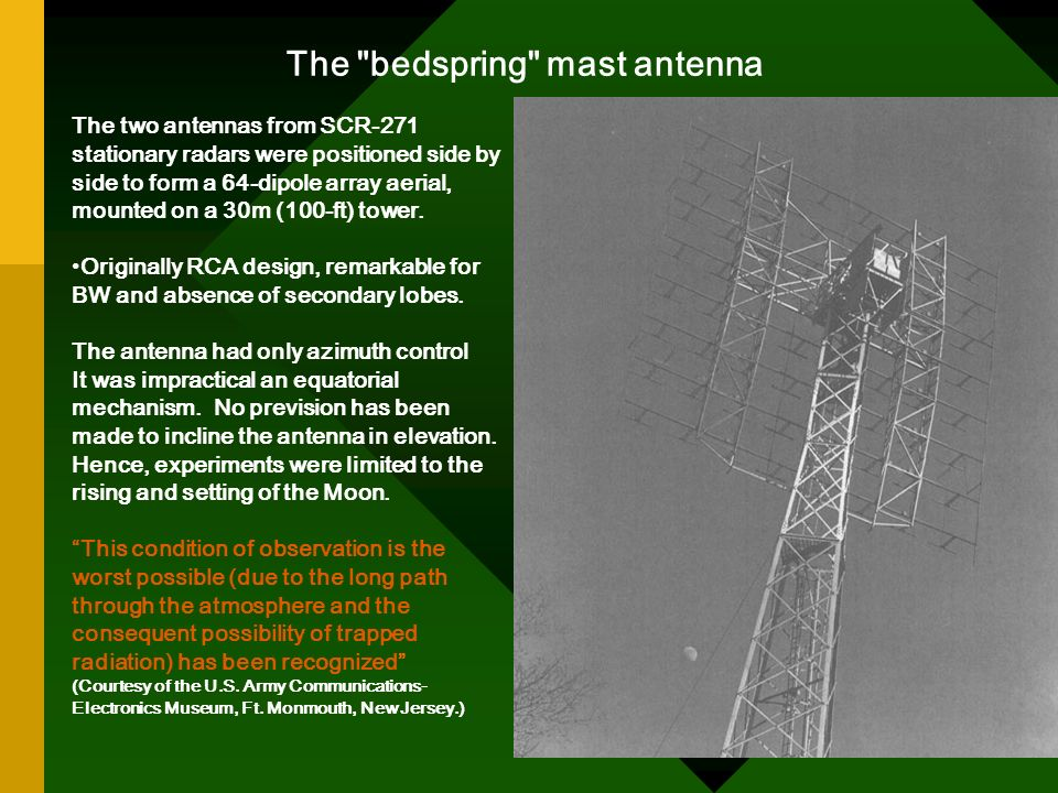 The bedspring mast antenna