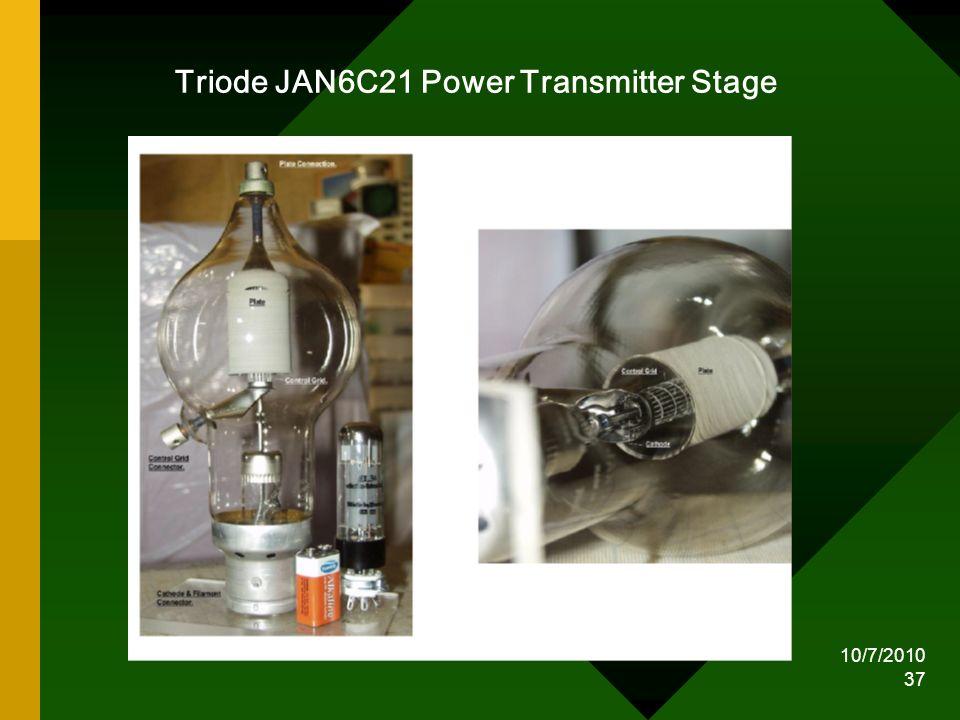 Triode JAN6C21 Power Transmitter Stage