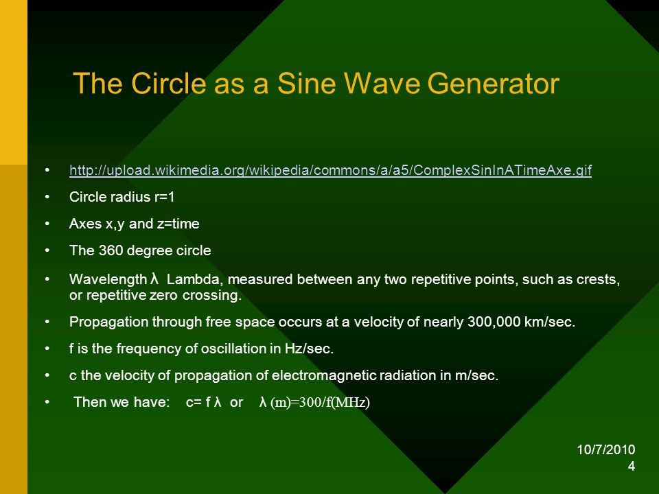 The Circle as a Sine Wave Generator