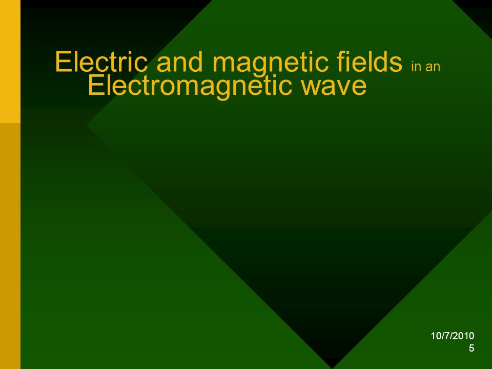 Electric and magnetic fields in an Electromagnetic wave