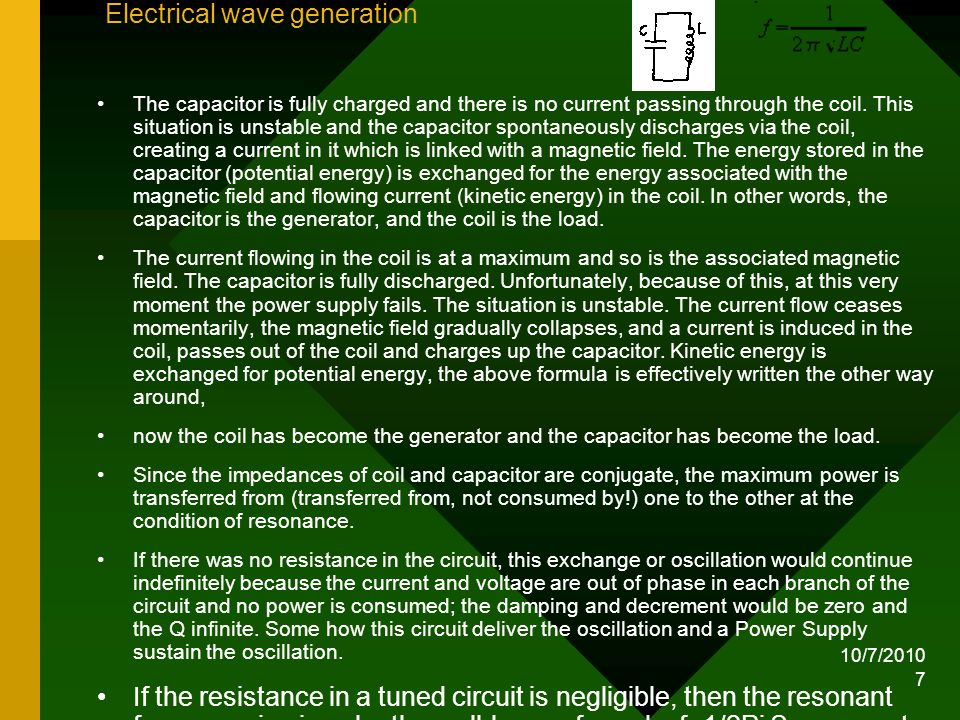Electrical wave generation