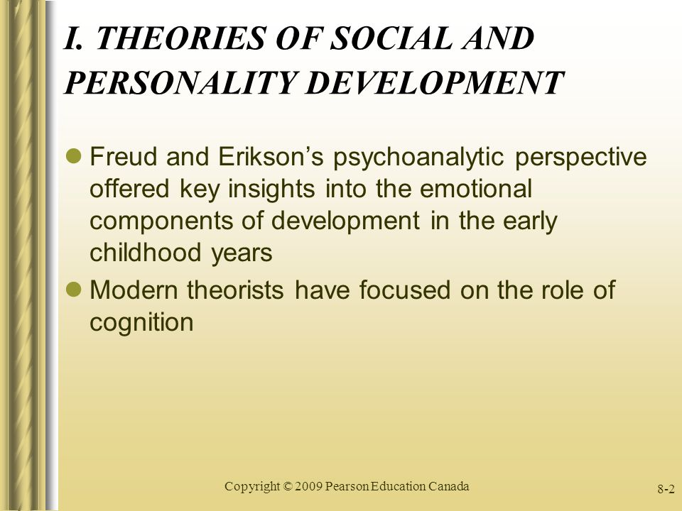 psychoanalytic perspective on personality development Attachment theory, psychoanalysis, personality development, and psychopathology sidney j blatt, phd kenneth n levy, phd.