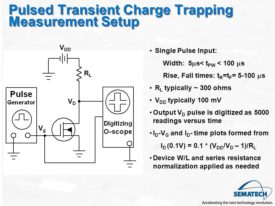 Pulsed Transient Charge Trapping Measurement Setup