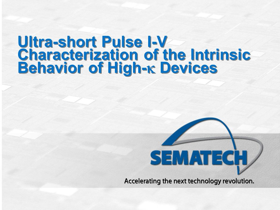 Ultra-short Pulse I-V Characterization of the Intrinsic Behavior of High-k Devices