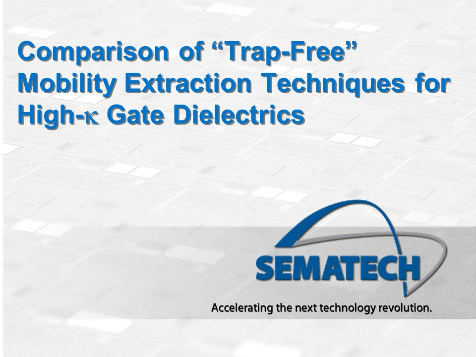 Comparison of Trap-Free Mobility Extraction Techniques for High-k Gate Dielectrics
