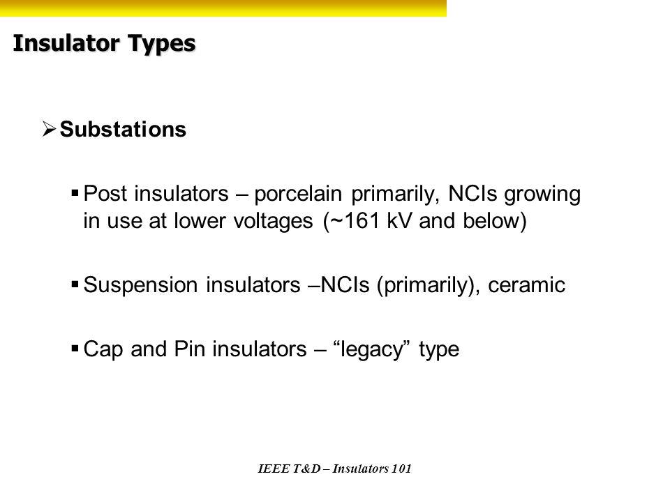 Insulator Types Substations