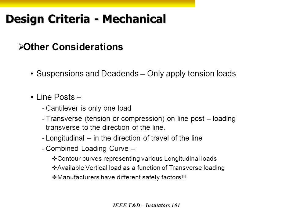 Design Criteria - Mechanical