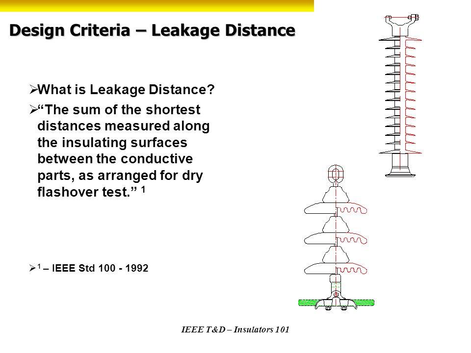 Design Criteria – Leakage Distance