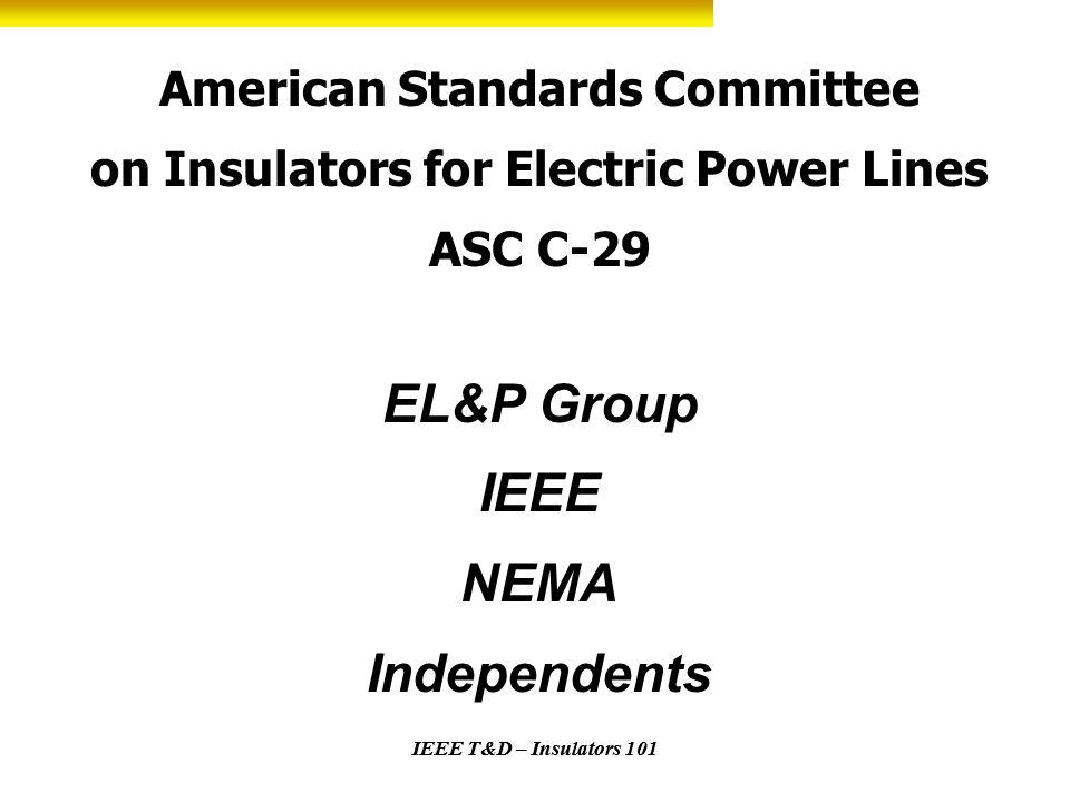 American Standards Committee on Insulators for Electric Power Lines