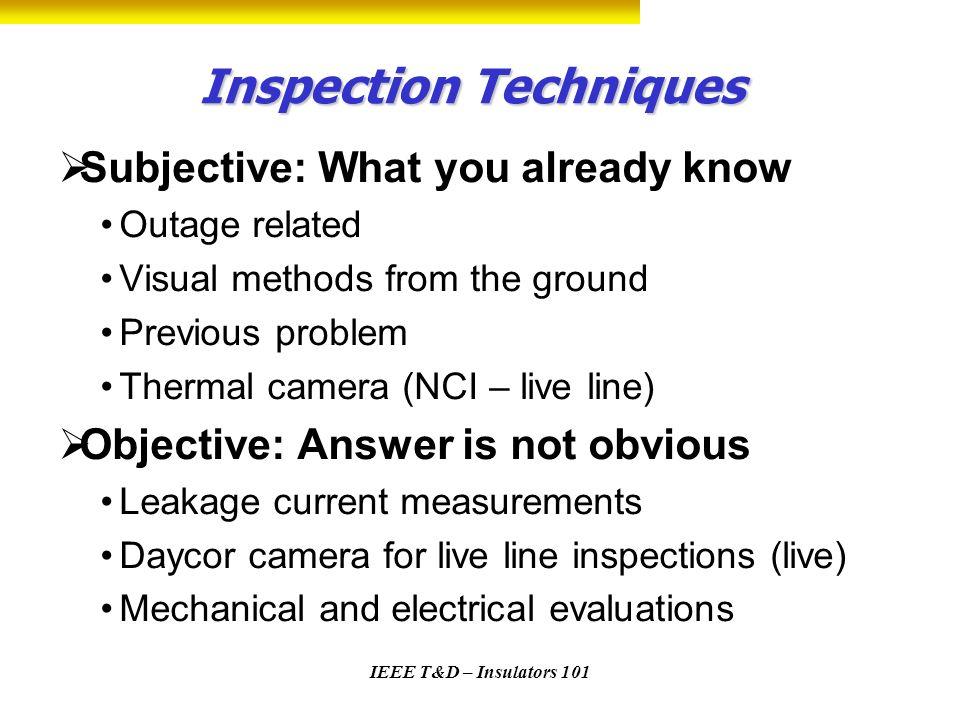 Inspection Techniques