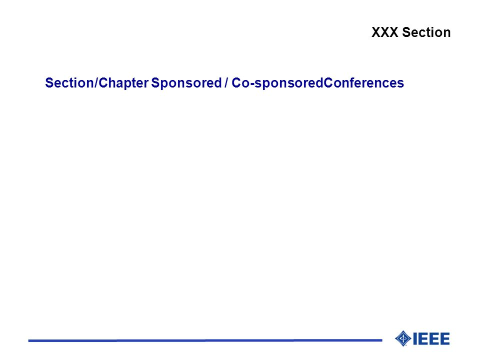Section/Chapter Sponsored / Co-sponsoredConferences