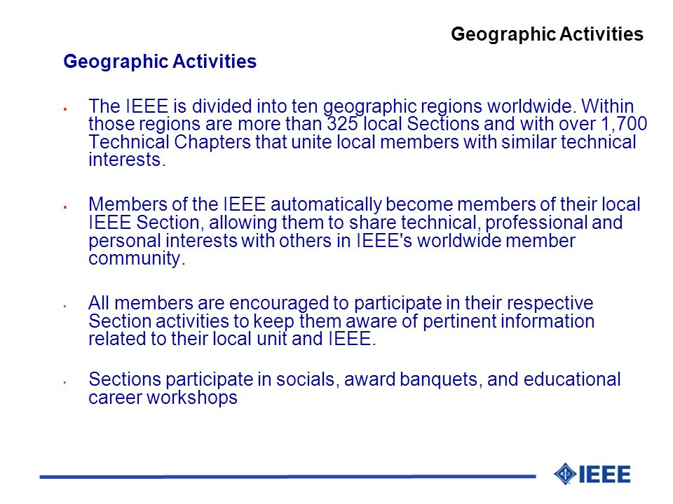 Geographic Activities