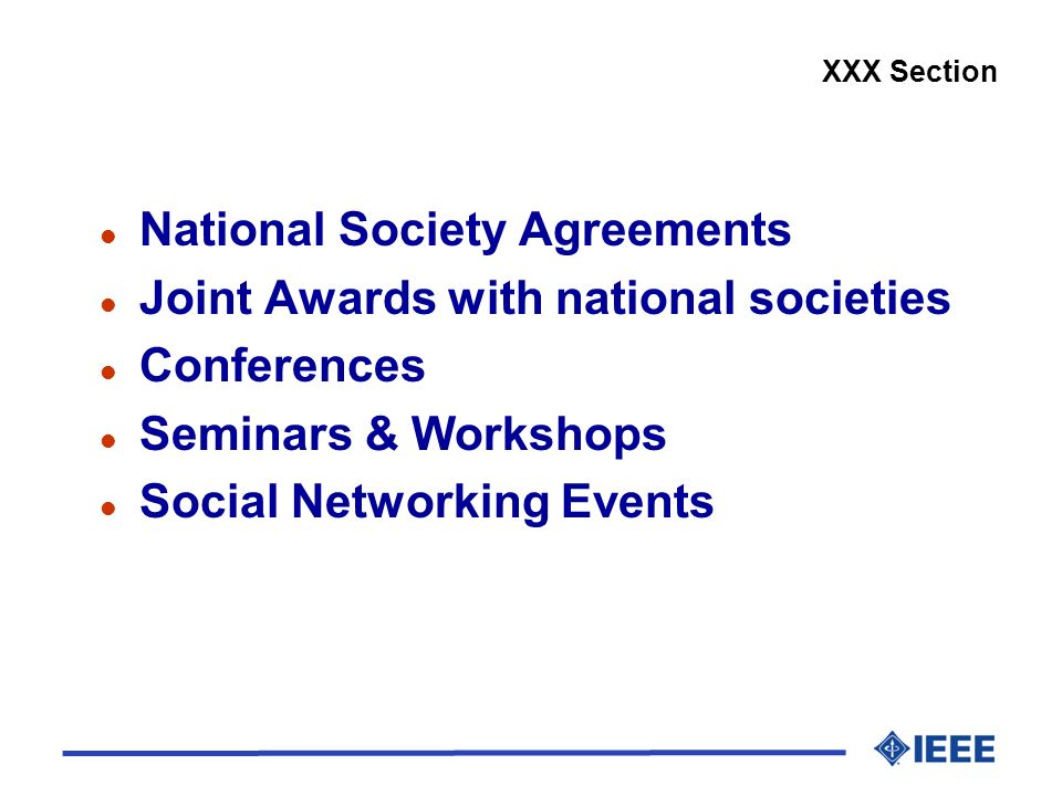 National Society Agreements Joint Awards with national societies