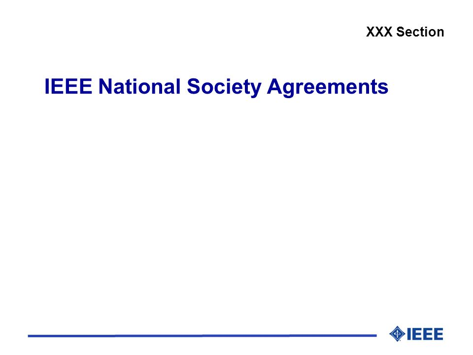 IEEE National Society Agreements