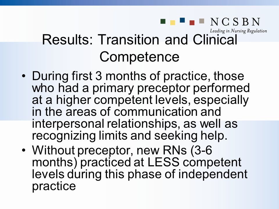 Results: Transition and Clinical Competence