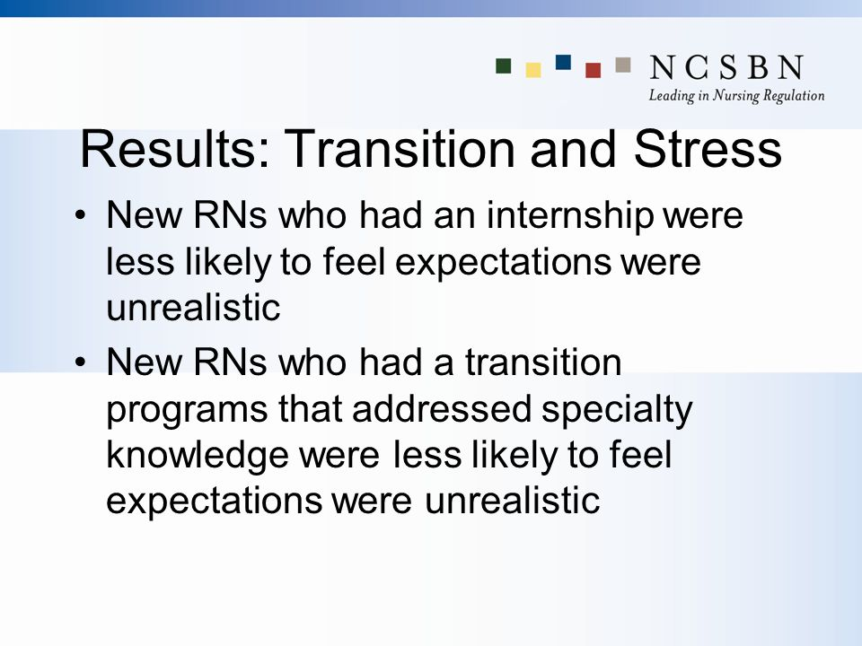 Results: Transition and Stress