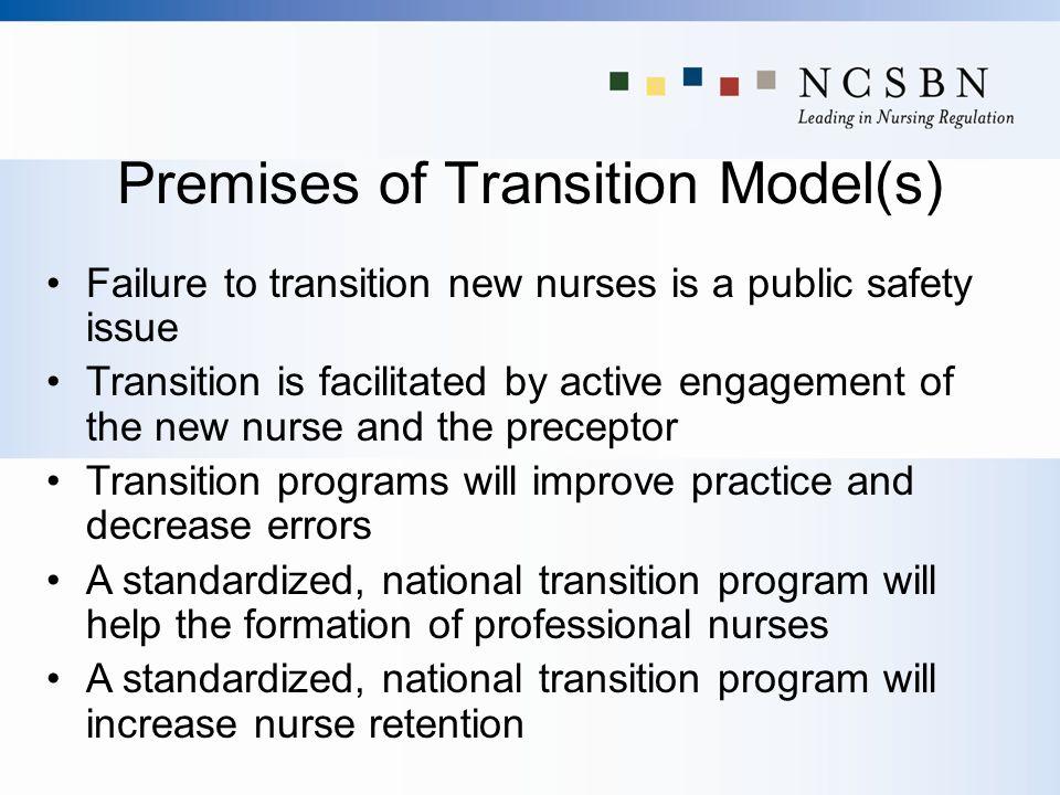 Premises of Transition Model(s)