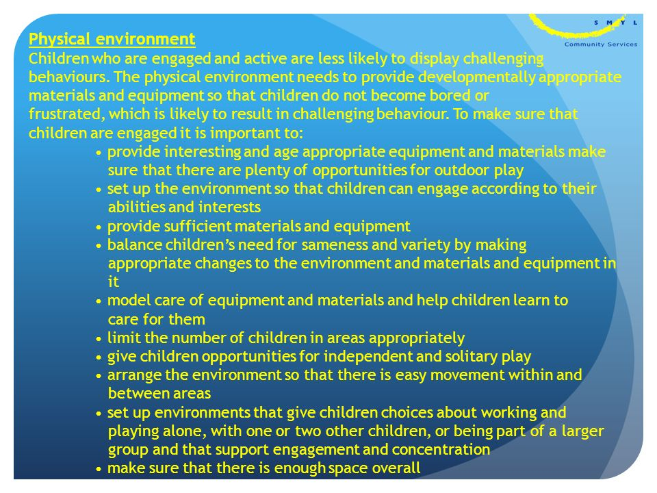 how to support children according to their age needs and abilities to make personal choices In tune with children's needs, and acknowledges children's important role in society it also helps  communities, involving them and giving them a say in decisions that affect them  and make it clear that you appreciate their individual views  children to have their opinions given due weight in accordance with their age.