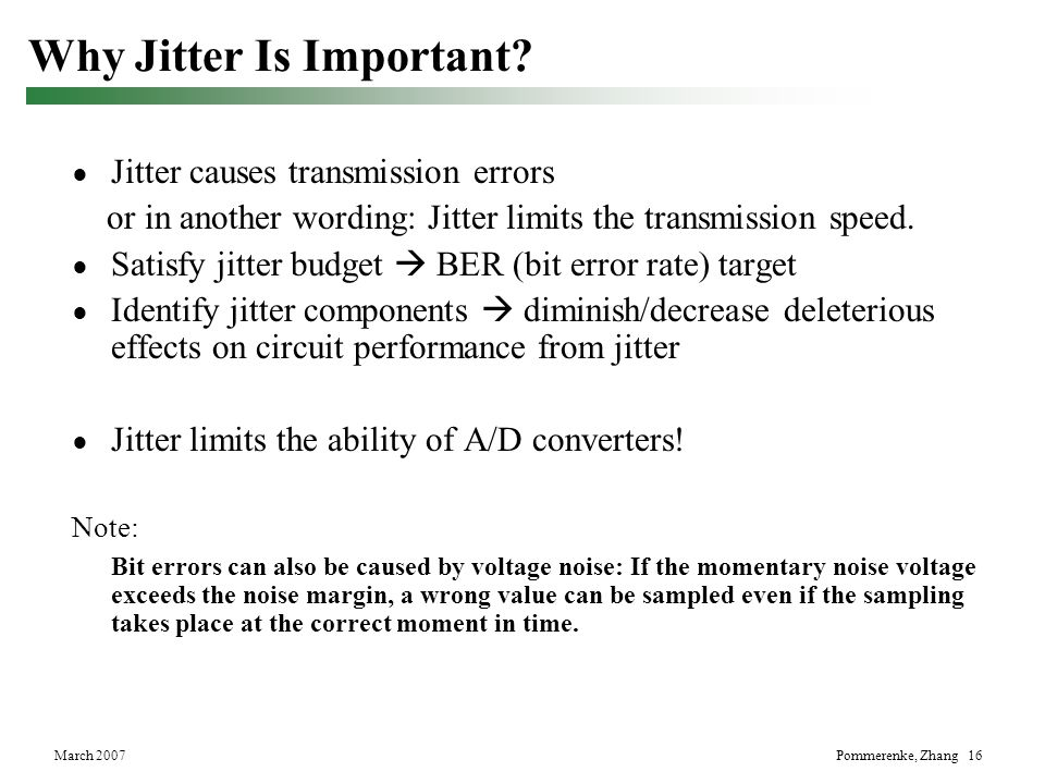 Why Jitter Is Important