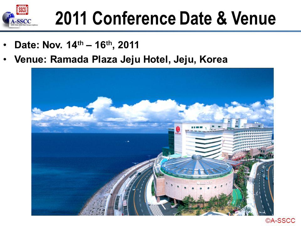 2011 Conference Date & Venue