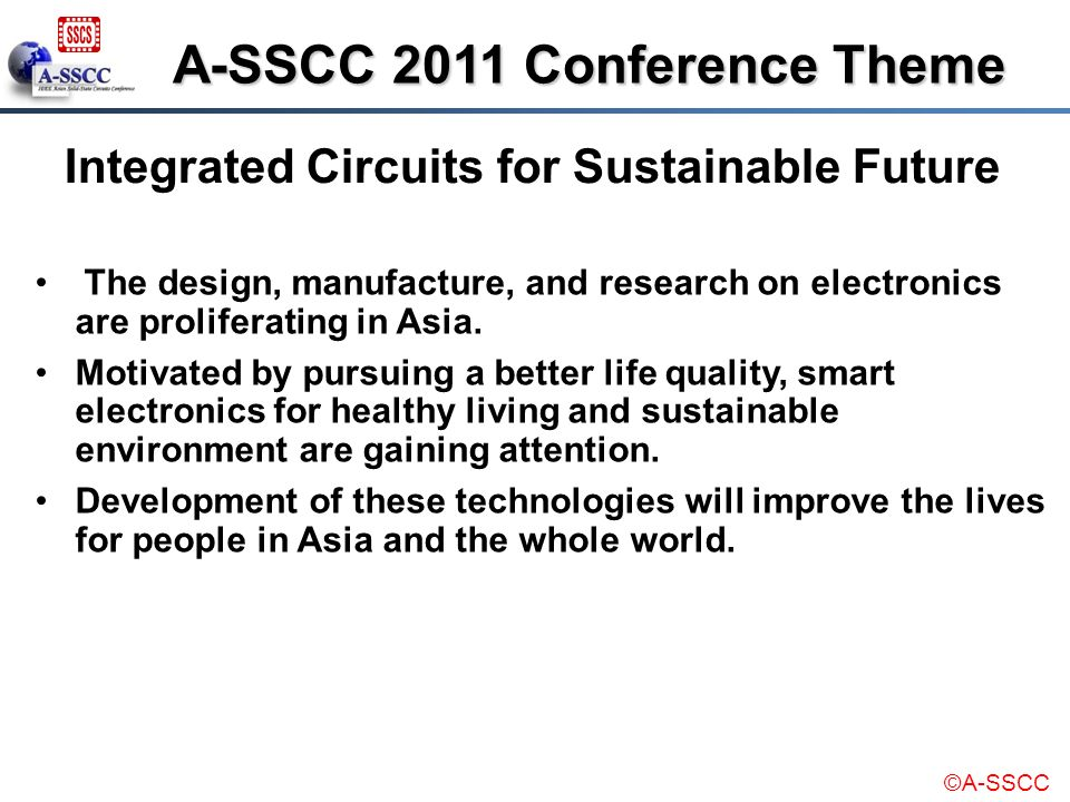 A-SSCC 2011 Conference Theme