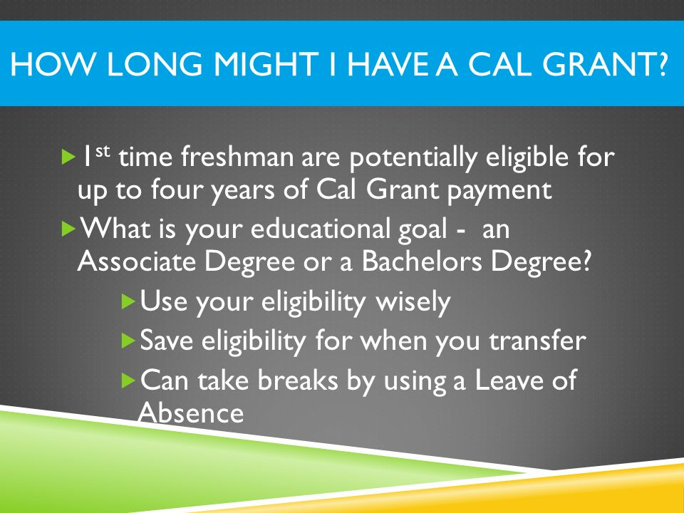 How Long Might I have a Cal Grant