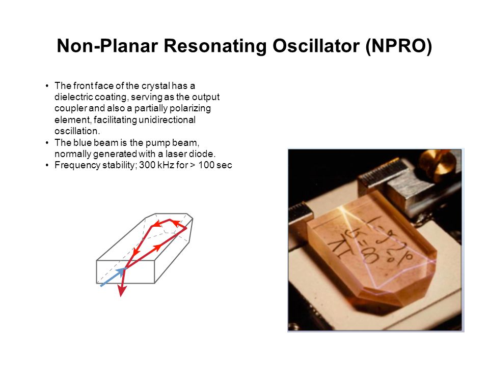 Non-Planar Resonating Oscillator (NPRO)