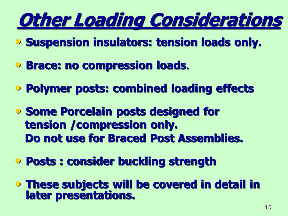 Other Loading Considerations