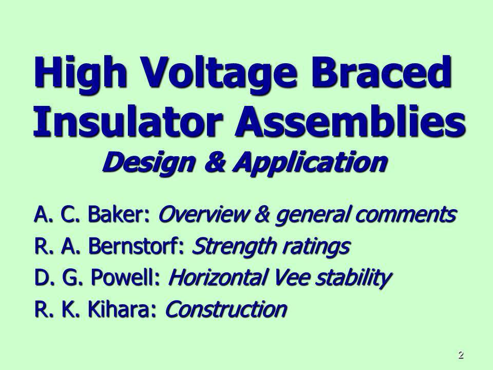 High Voltage Braced Insulator Assemblies Design & Application