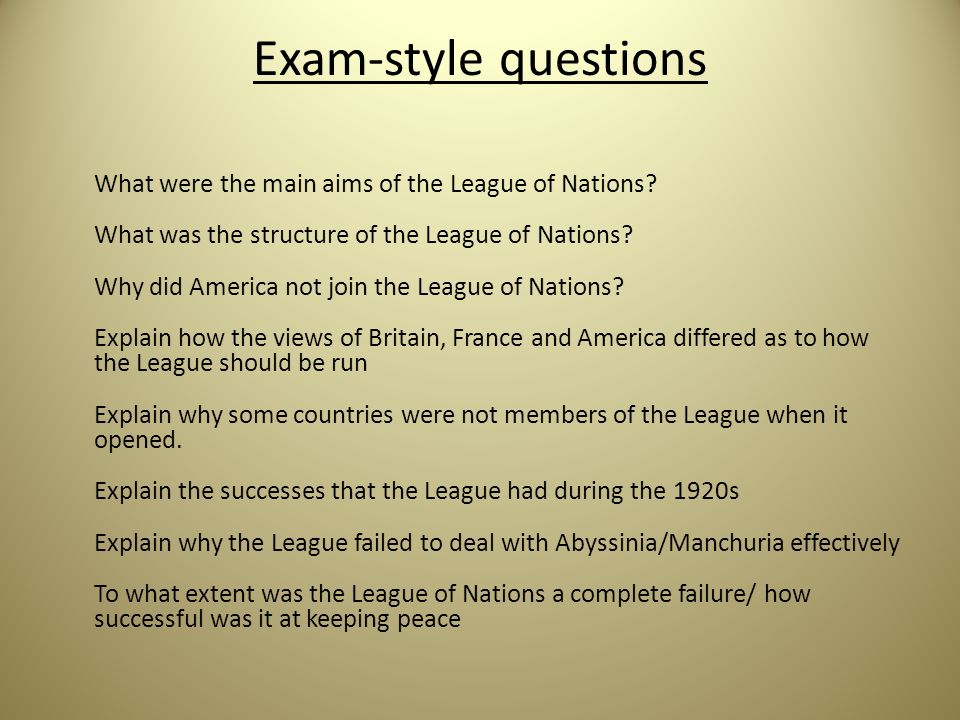 why america should not join the league of nations Though wilson chapioned the league of nations, the united states would never join.