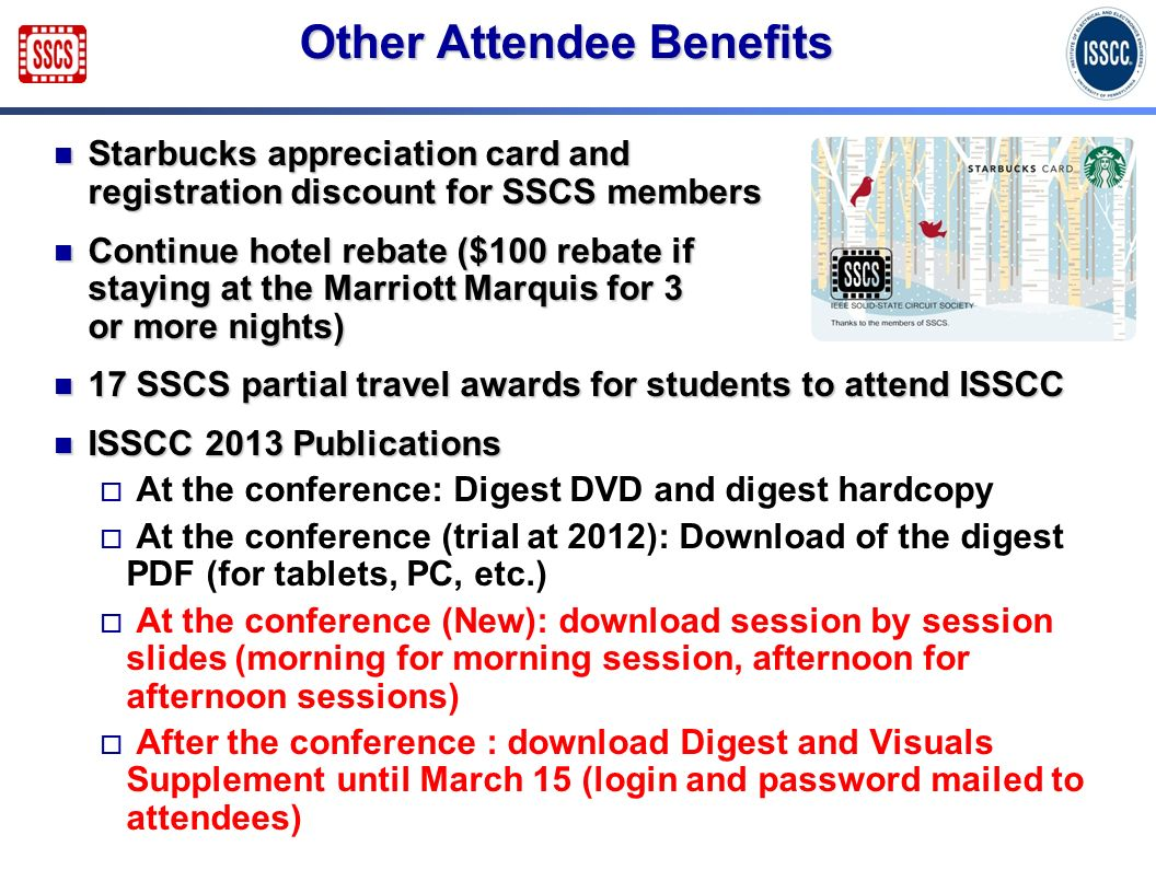 Other Attendee Benefits