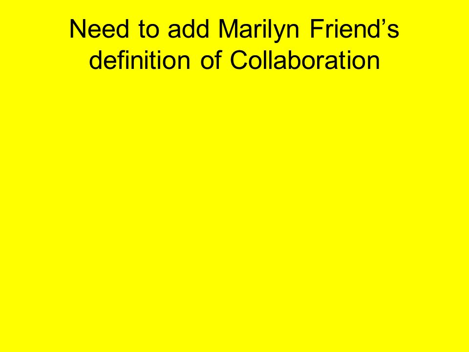 Collaborative Teaching Definition ~ How does this picture relate to collaboration ppt download