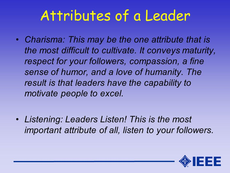 Attributes of a Leader