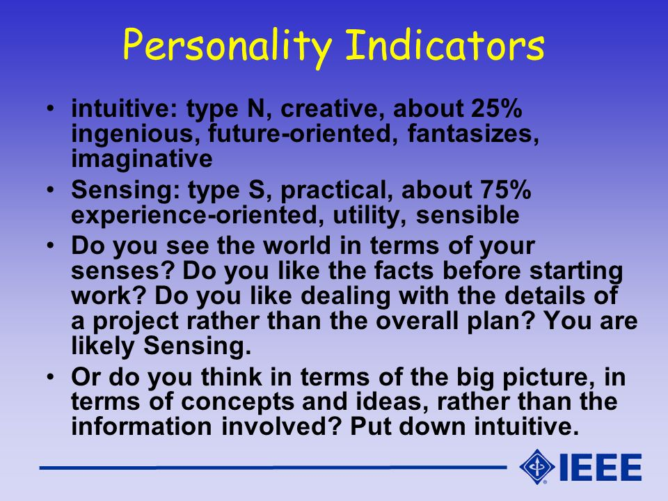 Personality Indicators