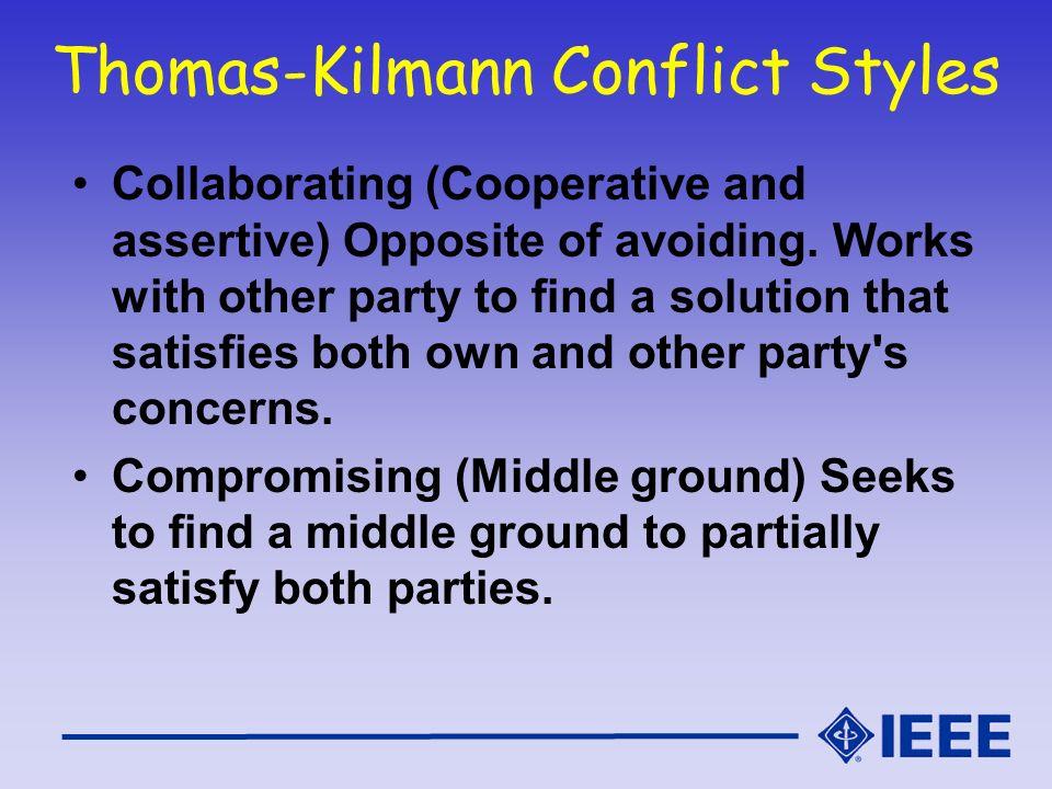 Thomas-Kilmann Conflict Styles
