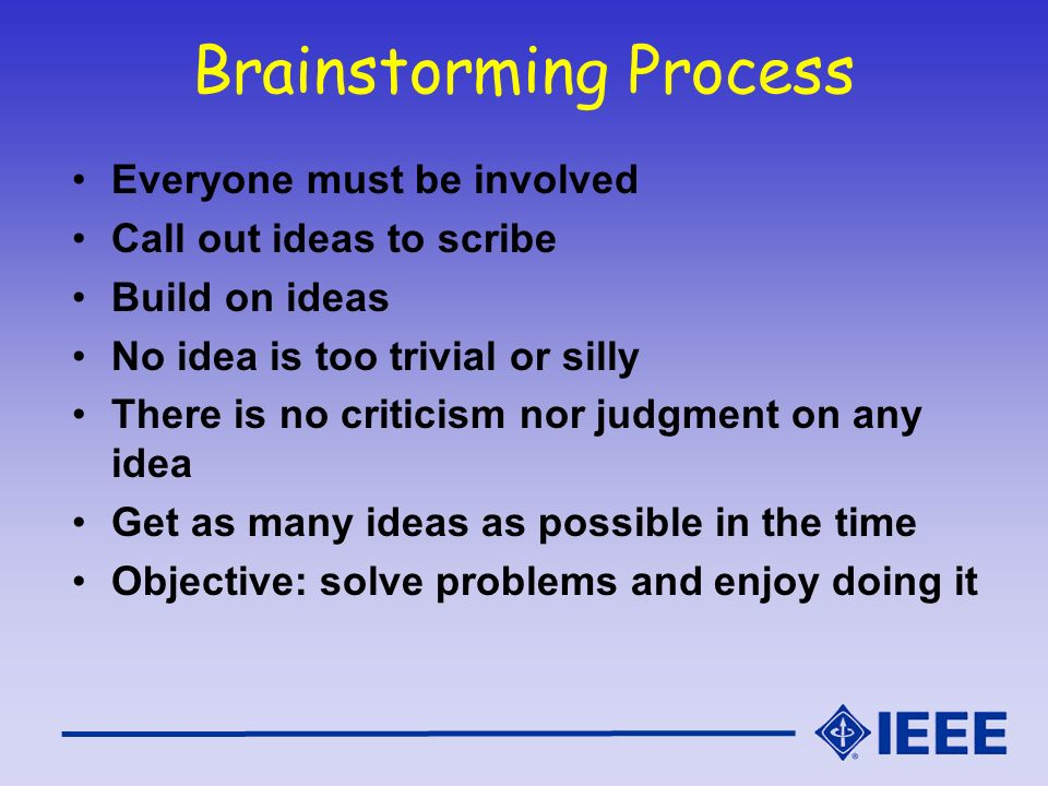 Brainstorming Process