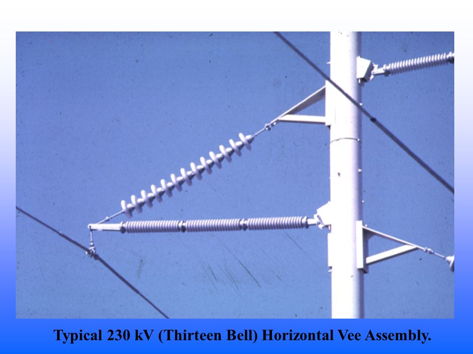 Typical 230 kV (Thirteen Bell) Horizontal Vee Assembly.