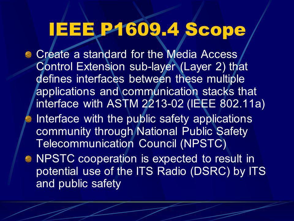 IEEE P1609.4 Scope