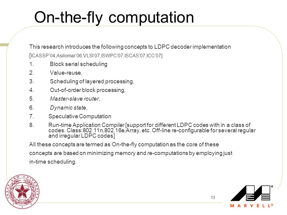 On-the-fly computation