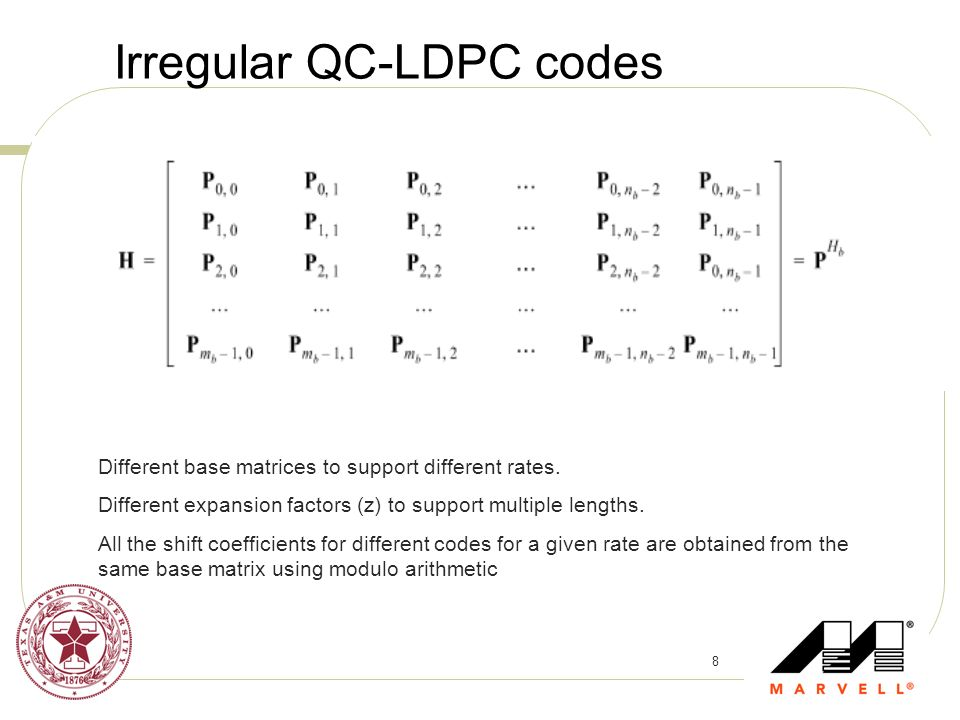 Irregular QC-LDPC codes