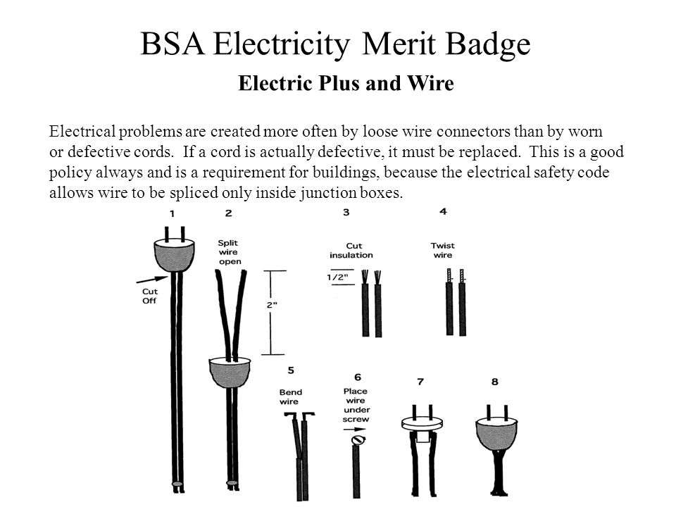 Electric Plus and Wire Electrical problems are created more often by loose wire connectors than by worn.