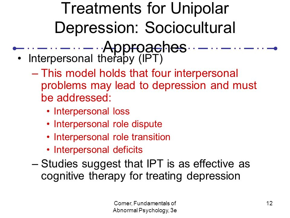 Causes symptoms and treatments of unipolar