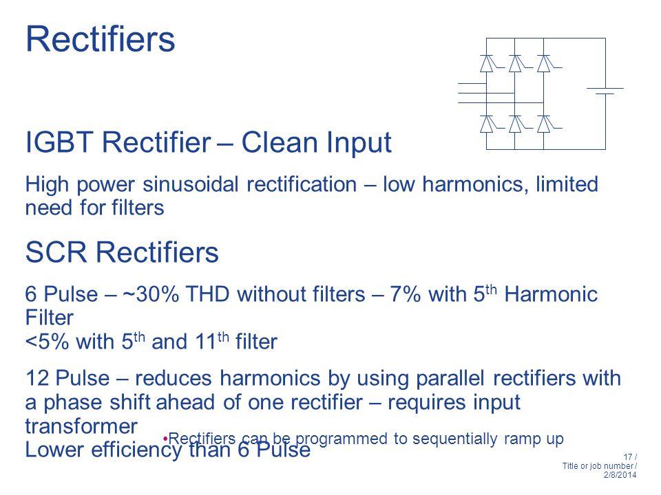 Rectifiers IGBT Rectifier – Clean Input SCR Rectifiers