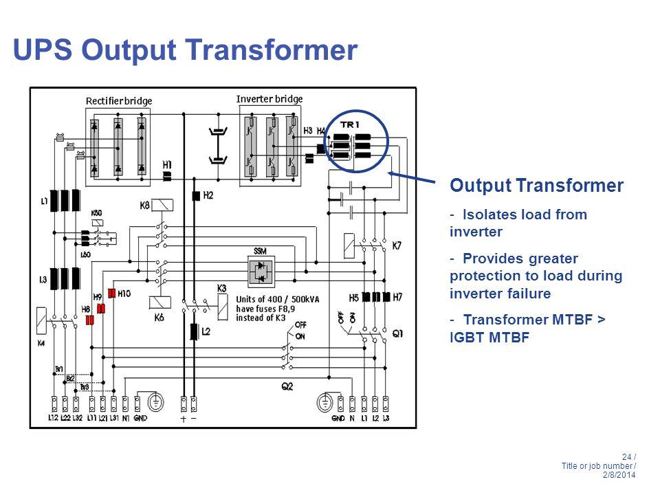 UPS Output Transformer