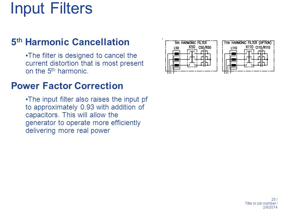 Input Filters 5th Harmonic Cancellation Power Factor Correction