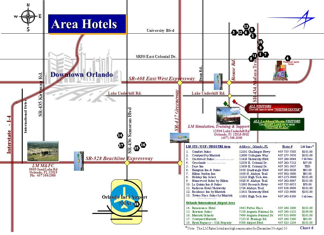 Area Hotels Downtown Orlando Interstate - I-4 Rouse Rd.