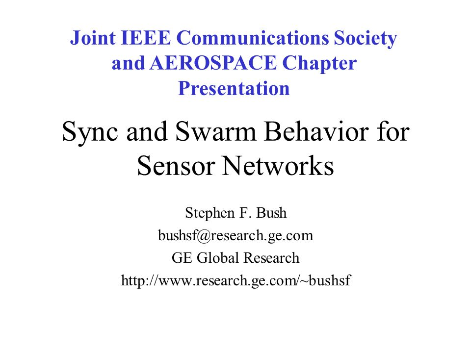 Sync and Swarm Behavior for Sensor Networks